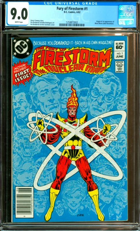 Fury of Firestorm #1 CGC Graded 9.0 1st Black Bison
