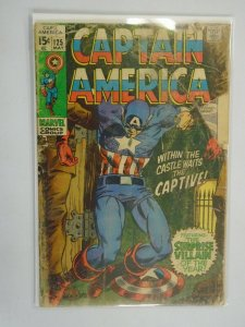 Captain America #125 2.5 GD+ (1970 1st Series)