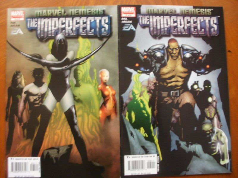2 Marvel Nemesis EA Limited Series Comic: THE IMPERFECTS #4 #5 (2005) Pak Arlem