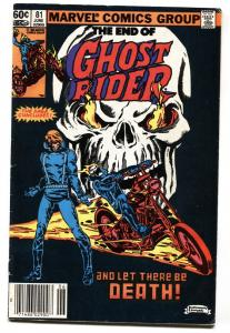 GHOST RIDER #81 last issue comic book-1983