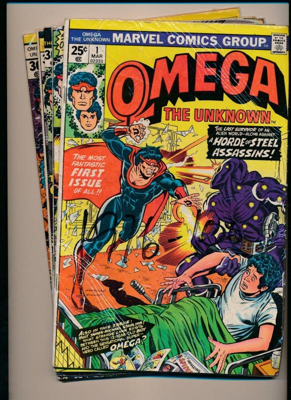 Marvel Comics Lot of 5 OMEGA the Unknown #1,#2, #4,#5, #8 VERY GOOD/FINE  (PF94)
