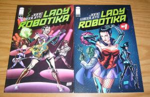 Lady Robotika #1-2 VF/NM complete series CREATED BY THE GO-GOs JANE WIEDLIN set