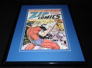 Zip Comics #4 Framed Cover Photo Poster 11x14 Official RP