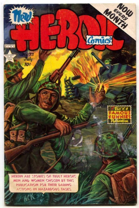 Heroic Comics #73 1952- FRAZETTA- War VG+