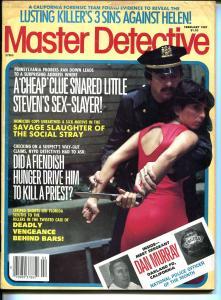 Master Detective 2/1987- spicy babe-violent pulp crime thrills-knife-FR/G