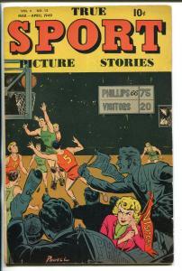 TRUE SPORT PICTURE STORIES #12 1949-BOB POWELL-BASKETTBALL-FINAL ISSUE-fn