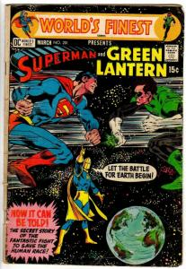 WORLDS FINEST 201 GOOD Mar 1971 SUPERMAN GREEN LANTERN