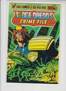 JUDGE DREDD'S ***CRIME FILE*** #1  1985  EAGLE  COMICS / UNREAD / HIGH