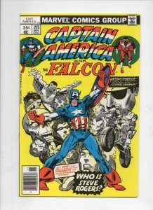 CAPTAIN AMERICA #215, VF,  George Tuska, Falcon, 1968 1977, Who is Steve Rogers