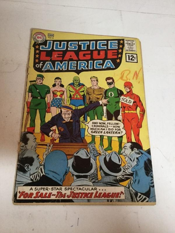 Justice League Of America 8 Gd Good 2.0 Detached Cover