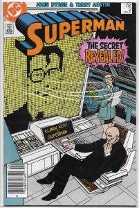 Superman (vol. 2, 1987) #  2 VG Luthor discovers Clark is SM, Byrne