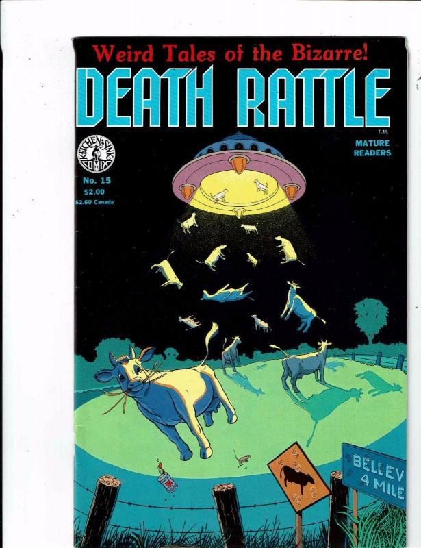 Lot of 2 Death Rattle/Melting Pot Kitchen Sink Press Comic Books #1 ...