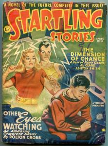 Startling Stories Pulp Spring 1946- Clark Ashton Smith- Polton Cross VG