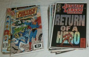 Justice League America #62-103 (missing 12) Superman, JLA JLI, comics lot of 57