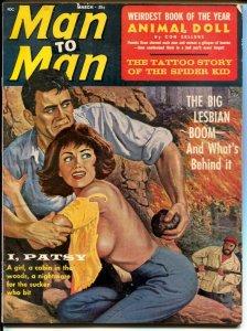 Man To Man 3/1965-cheesecake pix-war-crime GGA cover-exploitation-FN