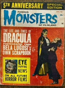 FAMOUS MONSTERS OF FILMLAND #22 (Warren,4/1963) GOOD MINUS(G-) NO BACK COVER