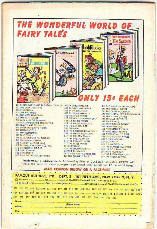 Classics Illustrated Junior #564 (Mar-67) VG Affordable-Grade