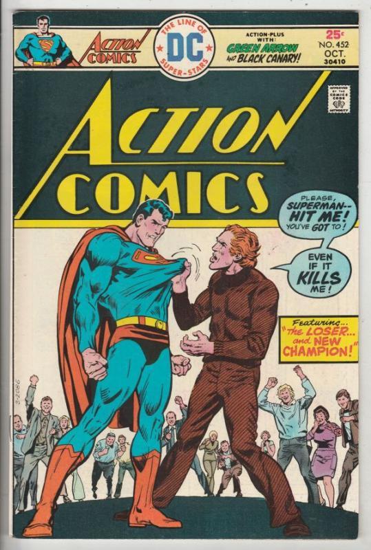 Action Comics #452 (Oct-75) NM- High-Grade Superman
