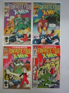 Fantastic Four vs. X-Men set #1-4 6.0 FN (1987)