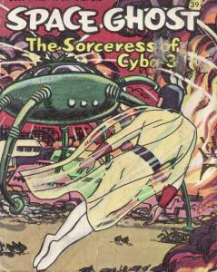 SPACE GHOST THE SORCERESS OF CYBA-3-BIG LITTLE BOOK-'68 VG