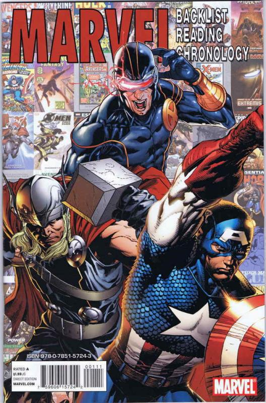 Marvel Backlist Reading Chronology #1 VF; Marvel | save on shipping - details in