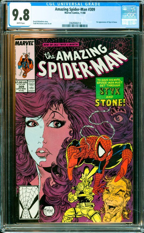 Amazing Spider-Man #309 CGC Graded 9.8 1st appearance of Styx & Stone.