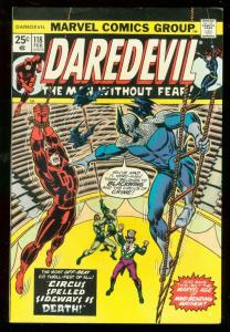 DAREDEVIL #118 1975-MARVEL-CIRCUS COVER-BLACKWING FN