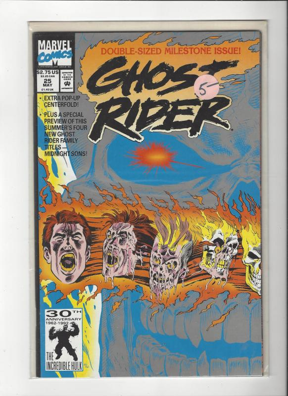 Ghost Rider Vol 2(1990) #25  Midnight Sons!! Pop-Up Centerfold NM