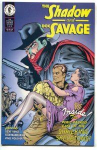 SHADOW AND DOC SAVAGE #1, VF/NM, Dark Horse, Dave Stevens, 1995