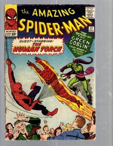 Amazing Spider-Man # 17 VG Marvel Comic Book Lizard Vulture Human Torch TJ1