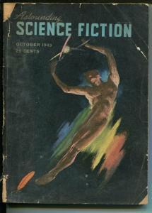 Astounding Science Fiction 10/1949-Street & Smith-L Ron Hubbard-pulp-P/FR