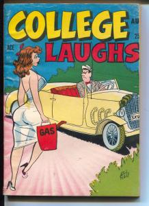 College Laughs #9 8/1958-spicy cartoons-Gags-headlights-VG+