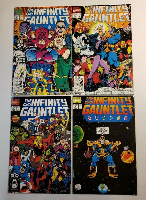 The Infinity Gauntlet #1-6 Complete Set Marvel Comics 1991 VF/NM Thanos Warlock
