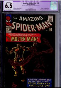 Amazing Spider-Man  #28 CGC 6.5 C-1 small amount of color touch - I can't tell!
