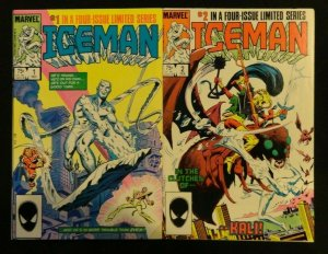 Iceman #1-4 Complete Series First Full App. of Oblivion Lot of 4 VF 1 2 3 4