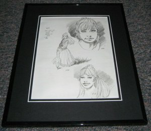 Andy Kubert 2001 Rose Origins Framed Sketch Official Reproduction