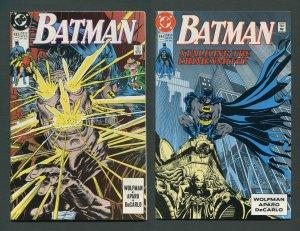 Batman #443 #444 (Crimesmith SET) 9.4 NM  January 1990