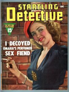 STARTLING DETECTIVE JUN 1942-SPICY HOOKER COVER-TRUE CRIME VF