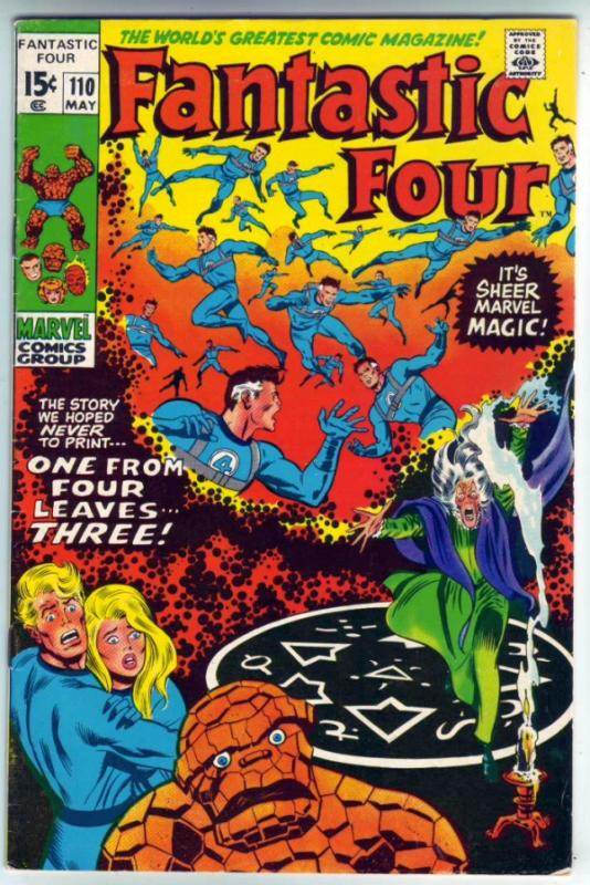 Fantastic Four #110 (May-71) VF+ High-Grade Fantastic Four, Mr. Fantastic (Re...