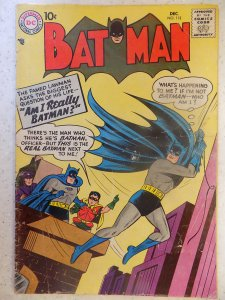 BATMAN (1957) # 112 FIRST SIGNALMAN SOLID OLD BOOK