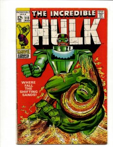 Incredible Hulk # 113 FN/VF Marvel Comic Book Iron Man Captain America Thor BJ1
