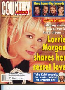Country Weekly-Lorrie Morgan-Elvis-Johnny Cash-Jerry Lee Lewis-Oct-1998