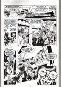 TOD SMITH-ELVIRA #134-TALES OF TEA BISCUIT -ORIGINAL ART PAGE 3-QUEEN 'B' FN