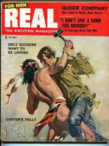 Real For Men 5/1956-pulp-Rita Gam cheesecake-Norm Saunders-Howard Cosell-VG/FN