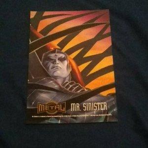 Marvel-Metal Prints- 1995- Fleer- Jumbo Promo Card  Mr. Sinister