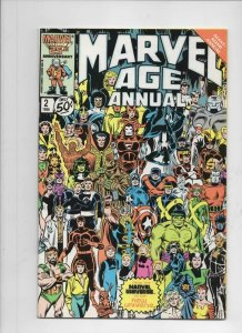 MARVEL AGE ANNUAL #2, VF, Spider-man, Wolverine, 1986 more in store