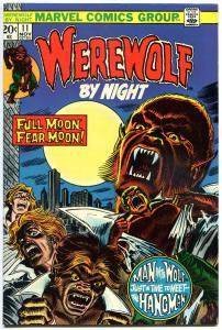 WEREWOLF by NIGHT #11, VF, Wolf, Tom Sutton, Full Moon, 1972, more WW in store