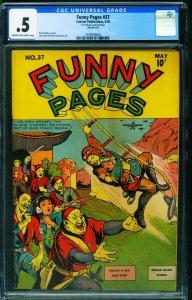 Funny Pages #37 CGC .5 1940-Rare Comic Book-Centaur 2109539002