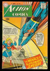 ACTION COMICS #367 1968-SUPERMAN-SUPERGIRL-NEAL ADAMS VG/FN