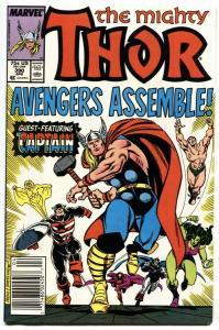 Thor #390 1988  Captain America wields Mljonir comic book